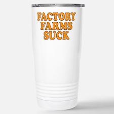 Factory Farms Suck Travel Mug