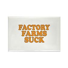 Factory Farms Suck Rectangle Magnet