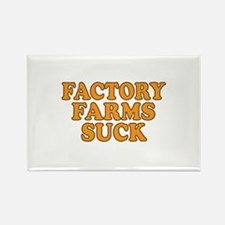 Factory Farms Suck Rectangle Magnet