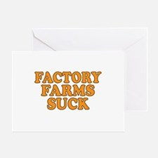 Factory Farms Suck Greeting Card