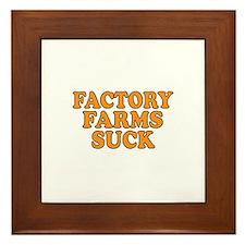 Factory Farms Suck Framed Tile