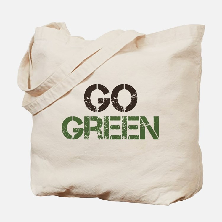 Cute Go green Tote Bag