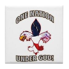 One Nation Under God Tile Coaster