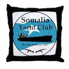 Somalia Yacht Club - Throw Pillow