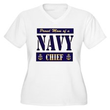 Chief's Mom Block Style T-Shirt