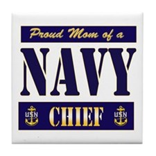 Chief's Mom Block Style Tile Coaster