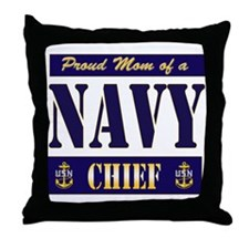 Chief's Mom Block Style Throw Pillow