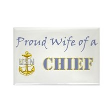 Proud Wife of a Chief Rectangle Magnet