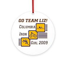 Go Team Liz - 2009 Ornament (Round)