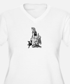 Young Maiden and Dog T-Shirt