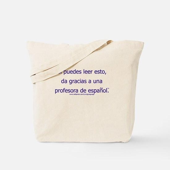 Thank a (Female) Spanish Teacher Tote Bag