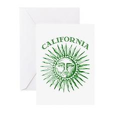 California Green Solar Energy Greeting Cards (Pk o