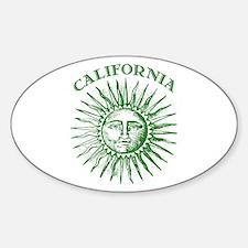 California Green Solar Energy Oval Decal