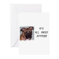 PIT BULL BIRTHDAY Greeting Cards (Pk of 10)