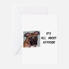 PIT BULL BIRTHDAY Greeting Cards (Pk of 10)