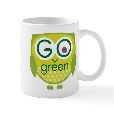 Go Green Owl Mug