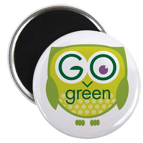 Go Green Owl Magnet
