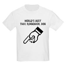 World's Best Thai Ridgeback D Kids T-Shirt