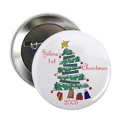Yelena's 1st Christmas 2005 Button