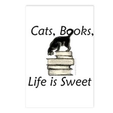 Cat on Books Postcards (Package of 8)