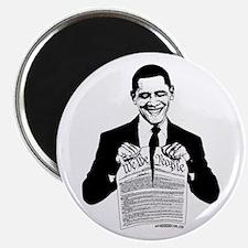 Obama Destroying Constitution Magnet