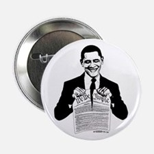 "Obama Destroying Constitution 2.25"" Button"