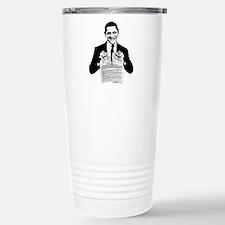 Obama Destroying Constitution Travel Mug