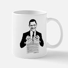 Obama Destroying Constitution Mug