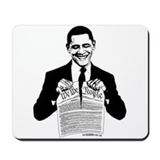 Obama Destroying Constitution Mousepad