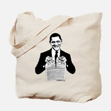 Obama Destroying Constitution Tote Bag