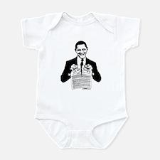 Obama Destroying Constitution Infant Bodysuit