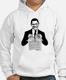 Obama Destroying Constitution Hoodie