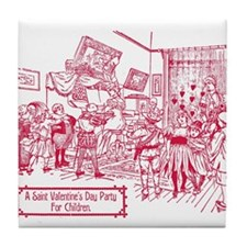 Valentines Childrens Party 1900 Tile Coaster