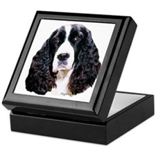 springer spaniel portrait Keepsake Box