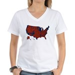 County Results 2008 President Women's V-Neck T-Shi