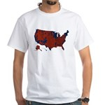 County Results 2008 President White T-Shirt