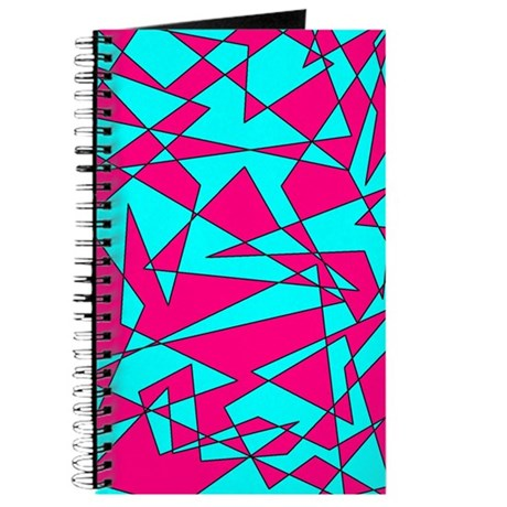 Light Blue and Pink 'Random Graphic' Journal
