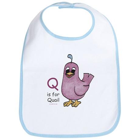 Q is for Quail Bib