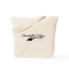 Straight edge fancy logo Tote Bag