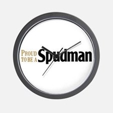 Proud to be a Spudman Wall Clock