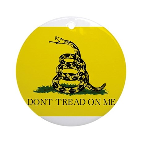 Original Gadsen Flag Ornament (Round)