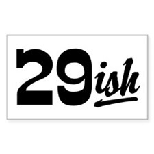 Funny 30th Birthday Rectangle Decal