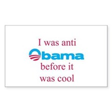 Anti Obama before it was cool Rectangle Decal