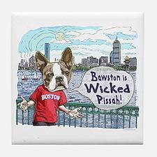 Wicked Boston Terrier Tile Coaster