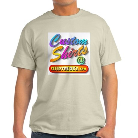 Add Your Message To A Custom Ash Grey T-Shirt