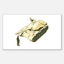 Tienanmen Tank Man Rectangle Sticker 10 pk)