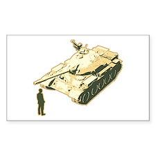 Tienanmen Tank Man Rectangle Decal