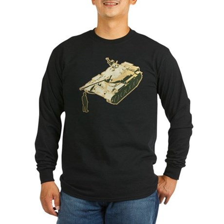 Tienanmen Tank Man Long Sleeve Dark T-Shirt