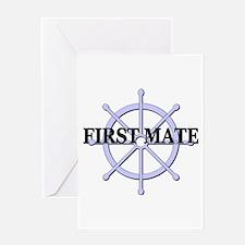 First Mate Ship Wheel Greeting Card