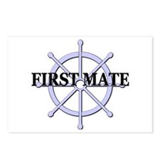 First Mate Ship Wheel Postcards (Package of 8)